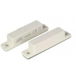Contatto magnetico allarme in plastica montaggio a vista porte finestre PVC, LEGNO, ALLUMINIO