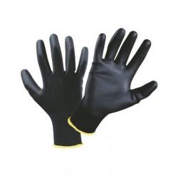 12pz Guanti da lavoro nylon e fibra carbonio per schermi touch poliuretanto nero