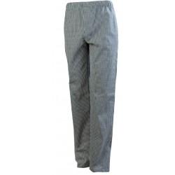 Pantalone da chef cuoco quadretti sale e pepe 3 tasche con elastico