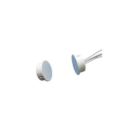 Contatto magnetico piatto in plastica per montaggio ad incasso.