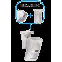 Snodo bivalente per montaggio a soffitto sensori ZEFIRO/AKAB HUB/HUB-C