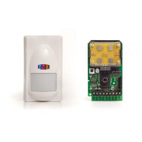 Sensore doppia tecnologia con antimascheramento microonda ZEFIRO AM SILVER