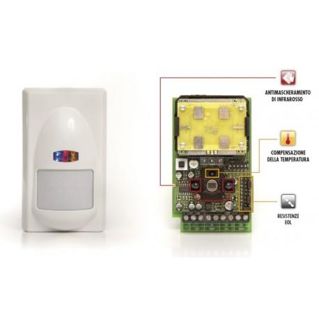 Sensore doppia tecnologia con antimascheramento microonda e infrarosso ZEFIRO AM GOLD