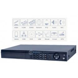 NVR 4 CANALI HD 1080P 4 porte PoE 3G VISUALIZZAZIONE SU SMARTPHONE
