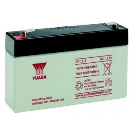 Batteria allarme YUASA SERIE NP 6V 1,2 ah B612Y