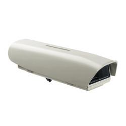 Custodia per telecamera videosorveglianza in alluminio, con tettuccio e riscaldamento 220Vac
