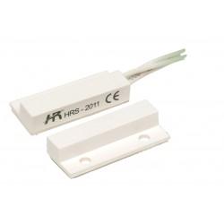 Contatto magnetico ABS adatto per il montaggio su infissi di legno o alluminio a SCAMBIO 3 FILI (NC-NO-C)