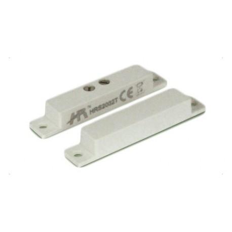 Contatto magnetico allarme in plastica a vista infissi legno PVC alluminio con morsetti