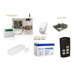 Kit Allarme Wireless AMC R400 con tastiera e IF400 e telecomando e GSM