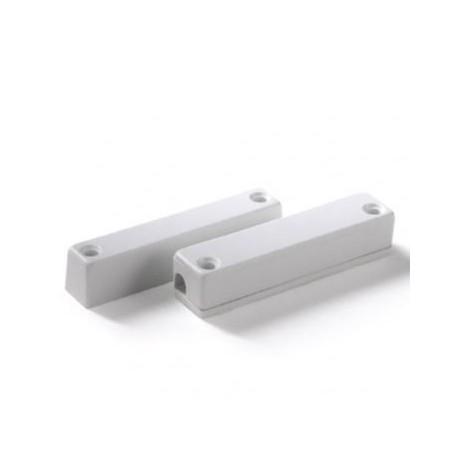 Contatto magnetico allarme rettangolare in ABS a vista con morsetti interni R5M