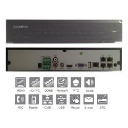 Videoregistratore Nvr IP 4 Canali video 1080P 4 porte PoE