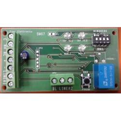 Scheda contaimpulsi sensori tapparella e vibrazione a due SIMA SW07