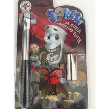 JOKER chiave universale kit svitatutto con cricchetto e inserto trapano