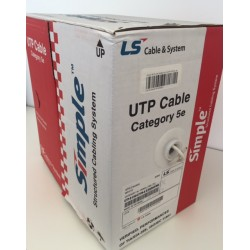 Cavo lan UTP 4x2 cat 5e matassa 305mt in rame solido
