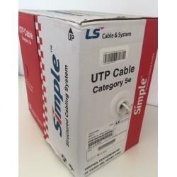 Matassa 305mt cavo U/UTP LAN cat 5E 4x2 AWG 24 in rame PVC LSZH