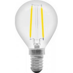 Lampadina Led filamento NOVALINE LFS40 Sferetta 4W E14 E27 luce calda 3000K