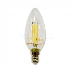 Lampadina a Led Filamento candela VTAC VT1986D 4365 4W E14 dimmerabile