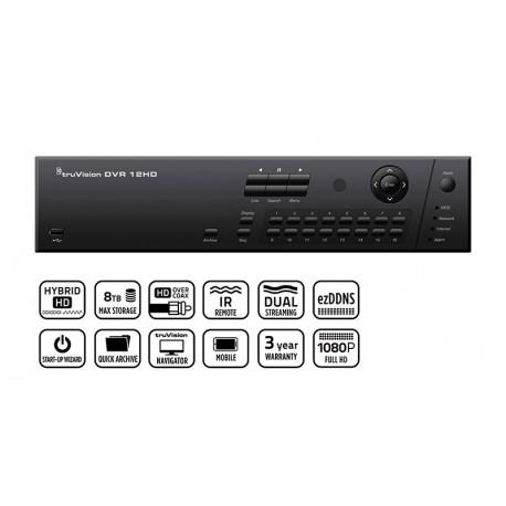 DVR videoregistratore TVR1208HD2T - TruVision DVR 12HD 8 canali HD-TVI ibrido con Hard Disk 2 TB