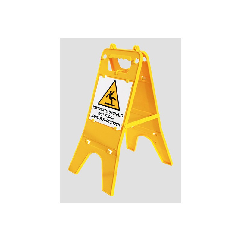 Supporto pavimento cartello in plastica avviso pavimento - Cartello pavimento bagnato ...