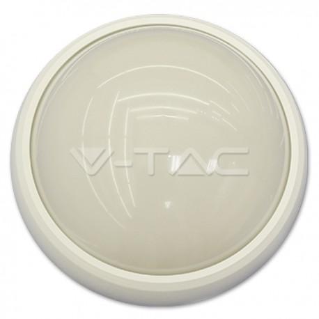 Plafoniera lampada led 12W VTAC Tonda per esterno IP65 bianca luce calda