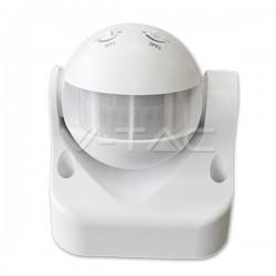 Sensore infrarosso accensione luci crepuscolare VTAC 8003 IP44 180° 12MT