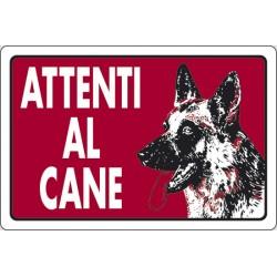 Cartello Attenti al cane Pastore Tedesco