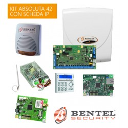 Kit Bentel Absoluta 42 IP 8/42 zone con GSM scheda ABS-IP tastiera e Sirena CALLPI