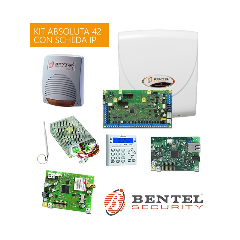 Kit absoluta 42 abs42 bentel con scheda abs ip gsm for Bentel absoluta 42 prezzo
