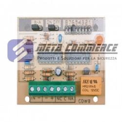 Scheda elettronica contaimpulsi per contatti a fune per tapparella e sensori volumetrici