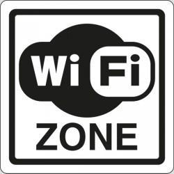 Cartello adesivo indicazione Area Wifi Zone Zona Internet 12x12 Bianco