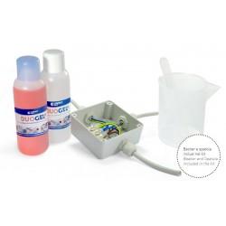 Gel bicomponente siliconico per giunzioni in pozzetti isolante DUOGEL 1 litro
