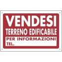 Cartello polionda VENDESI TERRENO EDIFICABILE misura 120x80 cm