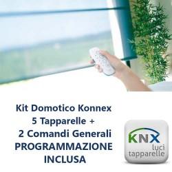 Kit domotico automazione tapparelle KNX Konnex 5 tapparelle con programmazione