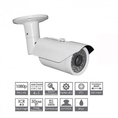 Telecamere videosorveglianza 4 in 1 AHD TVI CVI 960H ottica motorizzata 2.8-12mm 2 MPX 30mt