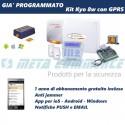 Kit allarme bentel KYO8W completo con APP GPRS antijammer programmato PUSH Email abbonamento incluso