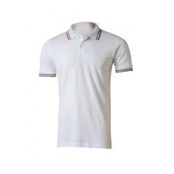 Polo T-shirt da lavoro con tricolore Italia 100 % cotone piquet