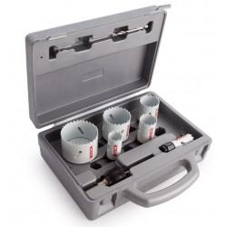 Valigetta set 9 seghe a tazza per legno e metallo frese per trapano 2608584670 bosch professional