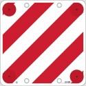 Cartello polionda segnalazione carichi sporgenti 50x50 occhielli e catadiottri rivettati