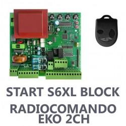 START S6XL BLOCK Nologo centralina per cancello ad anta 230Vac con telecomando EKO
