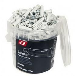 Secchiello DATAFIXI DATACOL 150pz tasselli da 6x30mm con vite