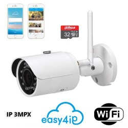 IPC-HFW1320S-W Telecamera IP wifi 3MPX con slot SD 24 led 30mt 2.8mm