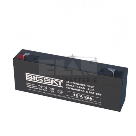 Batteria al piombo ricaricabile per sirena di allarme ELAN 12V 2AH Bigbat