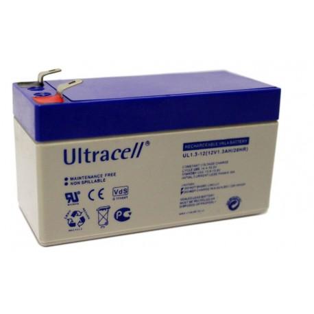Batteria al piombo ricaricabile 12V 1.3ah ULTRACELL UL1.3-12