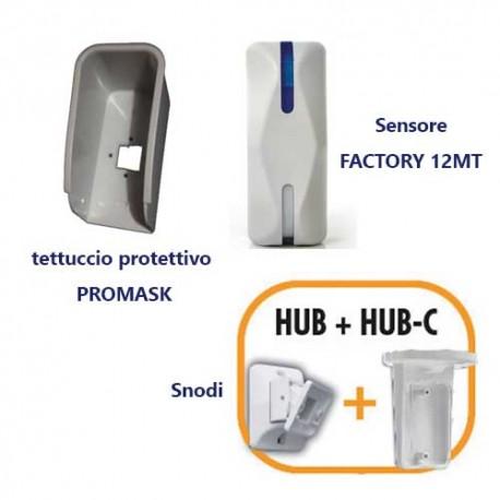 Sensore doppia tecnologia a tenda per esterno VELVET DT FACTORY