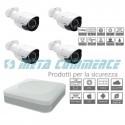 Kit videosorveglianza DVR 5 4 telecamere AHD bullet ottica fissa 3.6mm 1080P 2mpx