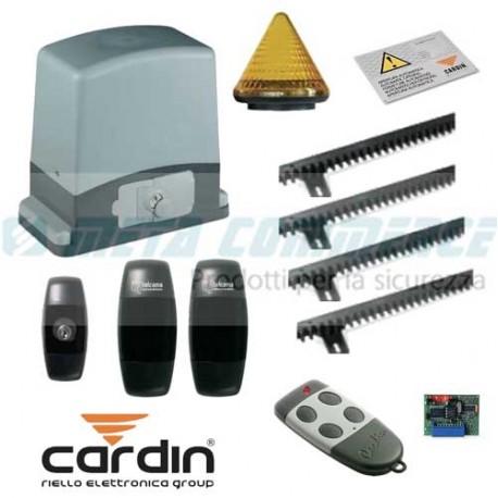 Kit automazione cancello scorrevole max 600 kg Cardin SLEVO 600 con cremagliera