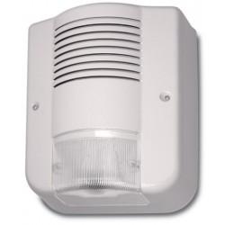 CITY LED AVS sirena allarme per esterno autoalimentata in ABS avorio