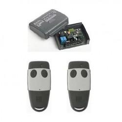 Kit ricevente cardin RQM449200 2 canali 12-4v e telecomandi TXQ449200: