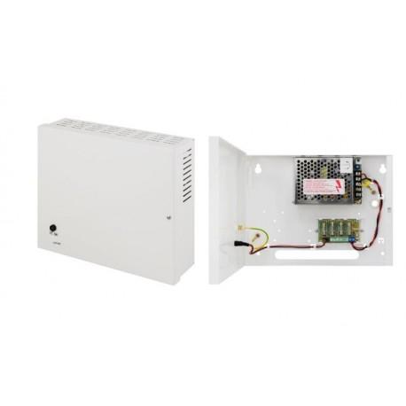 PSDC04122T Pulsar minibox di alimentazione 4 telecamere multi-uscita 12Vdc 2A 4x0.5A con fusibili di protezione