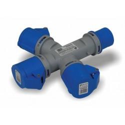 Adattatore industriale da cantiere triplo 3 uscite CEE friggeri FR-M030/44
